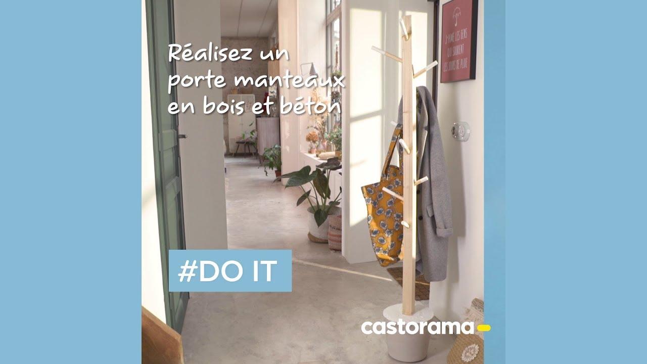 Porte Manteau Sur Porte Castorama.Diy Realisez Un Porte Manteaux En Bois Et Beton Castorama