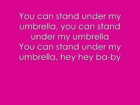 Umbrella- The Baseballs Lyrics On Screen