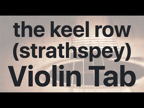 Learn the keel row (strathspey) on Violin - How to Play Tutorial