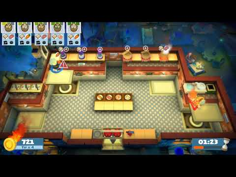 Overcooked! All You Can Eat (Night of the Hangry Horde) Kevin 3 (2 Players) - 4 STARS |