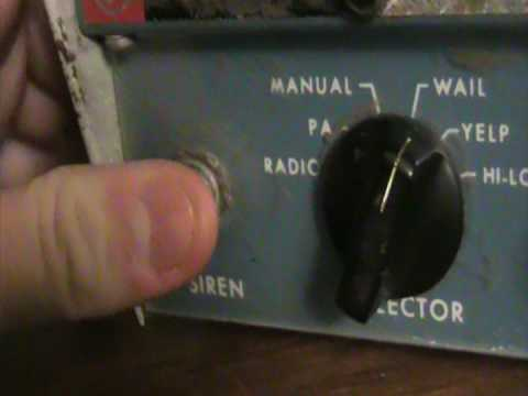 Federal Signal PA-20A Interceptor Siren