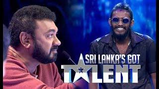 රැප් එකට නොදෙවෙනි ජැක්සන්ගේ සවුදම | SLGT -Rap Performance by Minimi | Sri Lanka's Got Talent 2018 Thumbnail