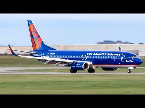 Sun Country Boeing 737-800 (B738) landing in Montreal (YUL/CYUL)
