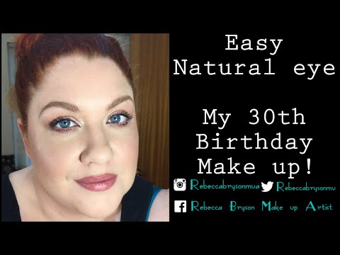 Natural date make up with pop of duo chrome! My 30th birthday make up!