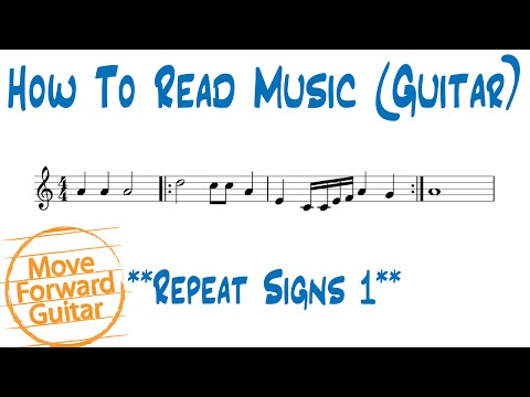 How to Read Music (Guitar) - Repeat Signs 1
