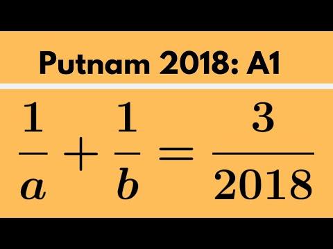 Putnam Exam | 2018: A1