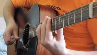 Конь (Любэ) на гитаре