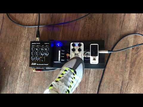 AER Pocket tools Dual Mix 기반 어쿠스틱 페달보드, Xotic RC Booster/원미사운드