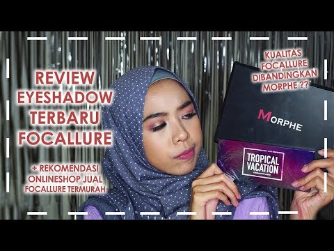 Review Eyeshadow Focallure & Morphe + Tutorial Tropical 14 | Affordable Online Shop Makeup Indonesia