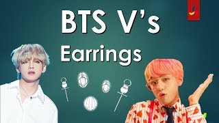 Check Out BTS V's Earrings (Piercings)