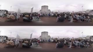 360: Inauguration Day Protesters at Union Station (C-SPAN)