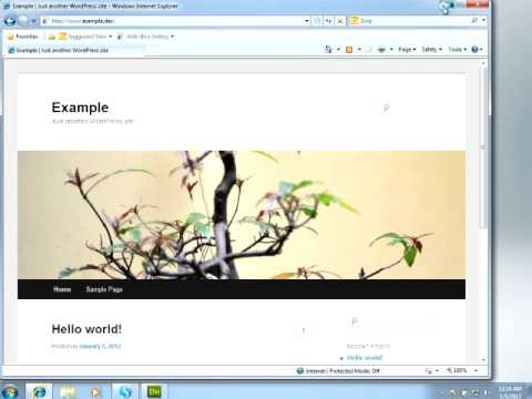 WordPress Theme Design in Dreamweaver - YouTube