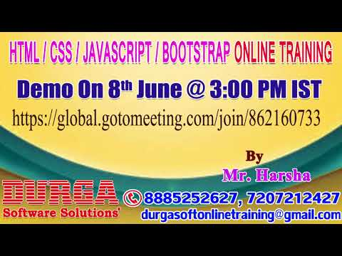 HTML, CSS, JavaScript, Bootstrap Online Training In DURGASOFT