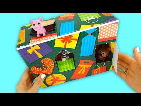 Коробка с сюрпризами и игрушками из мультиков