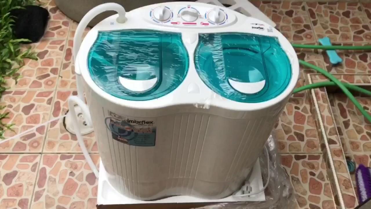 รีวิวเครื่องซักผ้าขนาดเล็ก Imarflex Mw 201 Mini Youtube