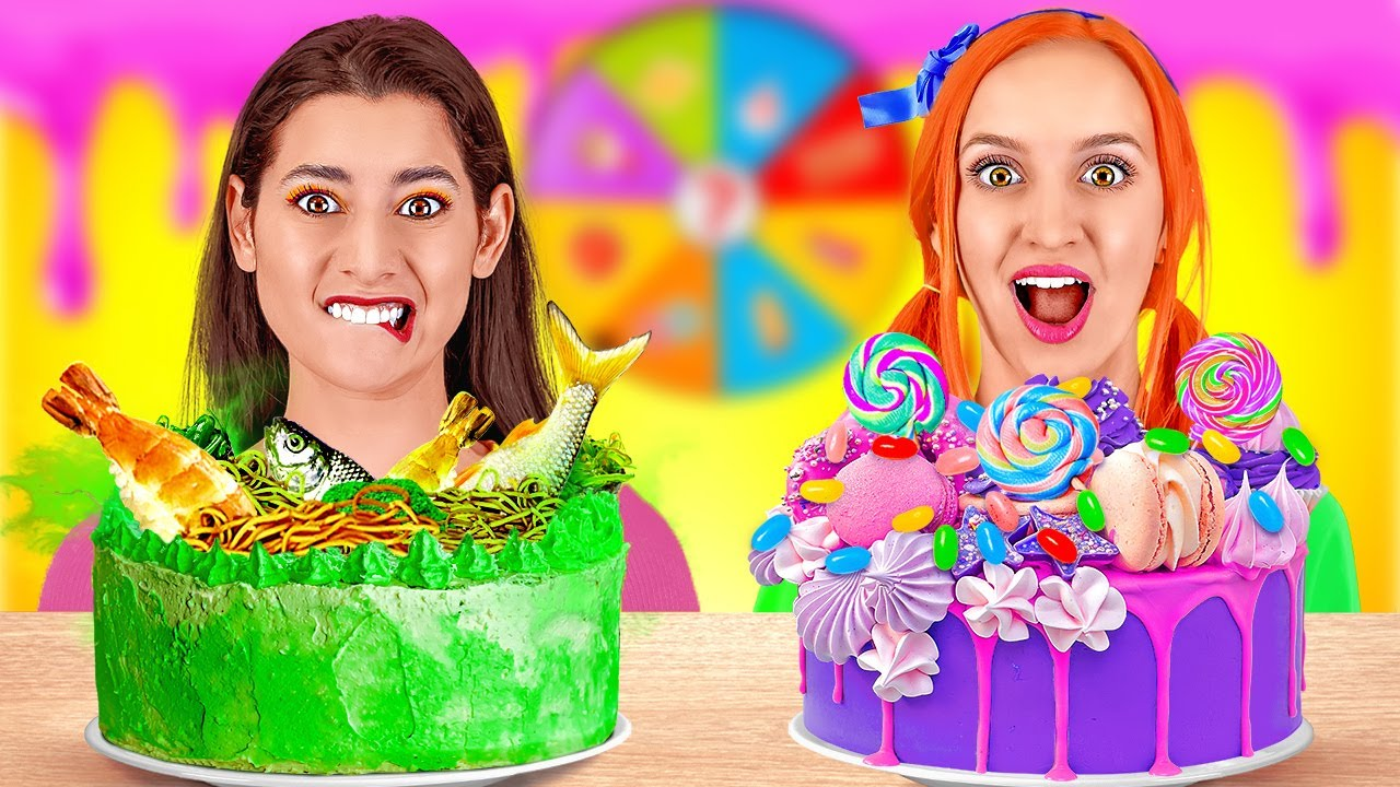 Download CAKE DECORATING CHALLENGE || Spin The Mystery Wheel! 100 layers of FOOD by 123 GO! CHALLENGE