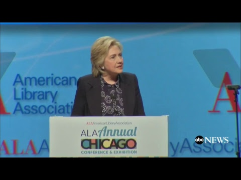 Hillary Clinton Live Remarks: Keynote Address At ALA Conference And Exhibition In Chicago