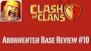 Clash of Clans: Abonnenten Base Review #10 - Aller Anfang ist schwer