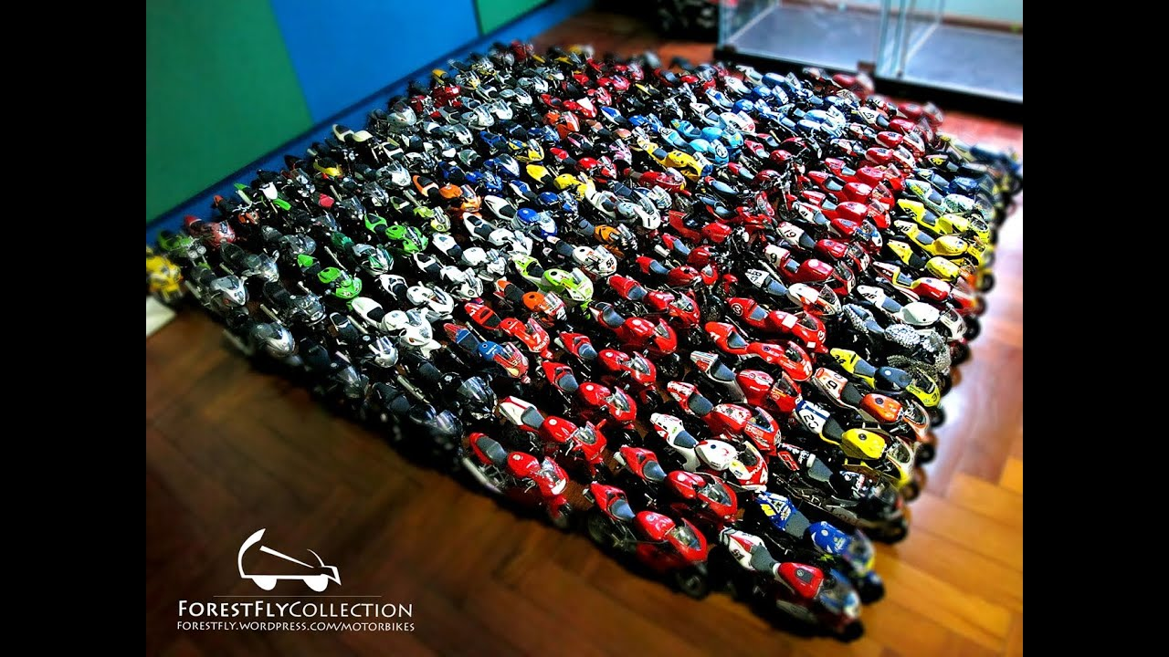 1/12 motorbikes diecast and model collection - YouTube