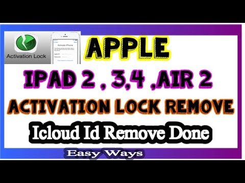 Apple Ipad 2 3 4 Air 2 Activation Lock Remove ! Icloud Id Bypass Easy Ways