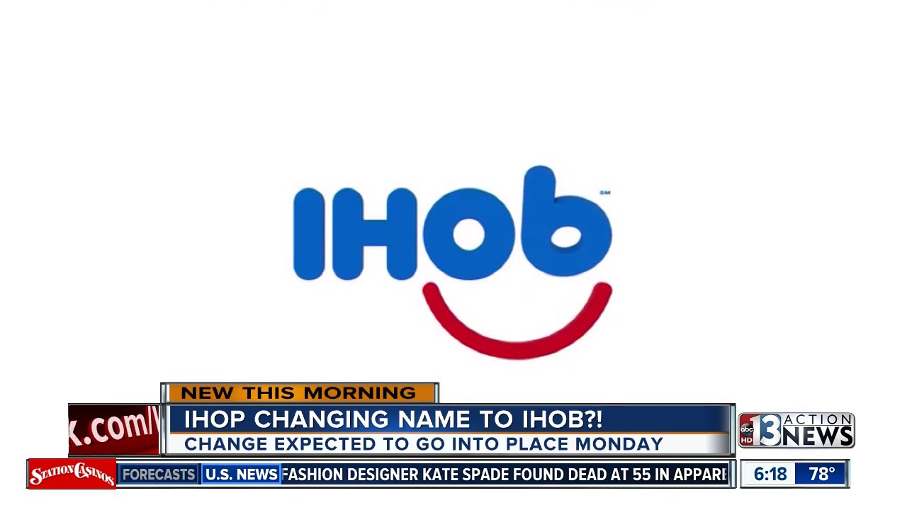 Is IHOP getting rid of pancakes? Changing name to \'IHOb\' - YouTube