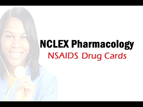 NCLEX Pharmacology Cards - NSAIDS