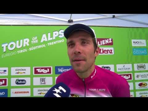 Thibault Pinot - interview d'arrivée - étape 4 - Tour of the Alps 2018