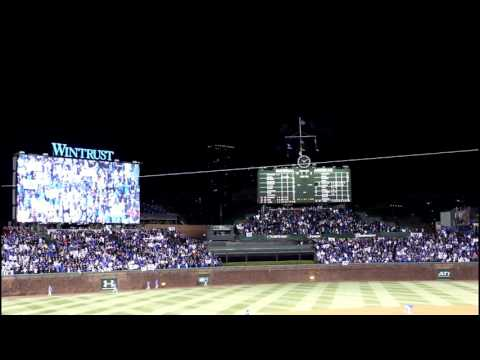2016 Chicago Cubs Opening Night Final Out Inside Wrigley Field