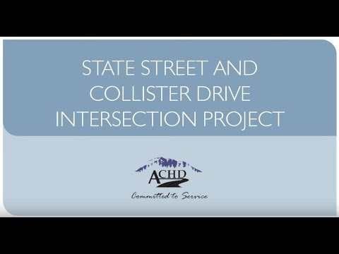 State and Collister Intersection Project Video