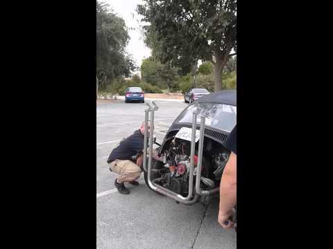 "Volkswagen Bug quad exhaust ""four stack"""