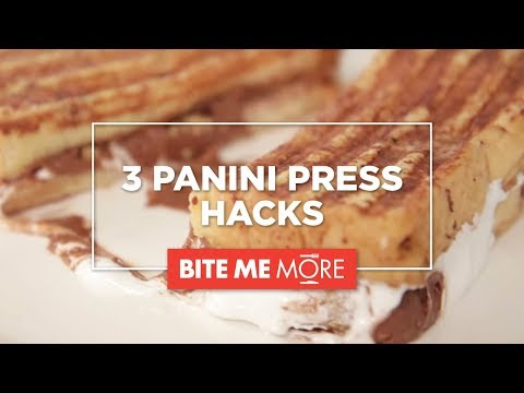 3 PANINI PRESS HACKS - S'mores French Toast, Pita Chips, and Breakfast Sandwich