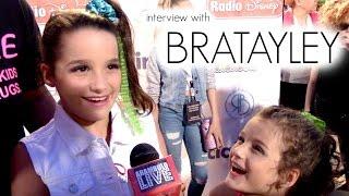 Interview with Bratayley (Annie LeBlanc & Hayley LeBlanc) at Jojo Siwa 's 13th Birthday