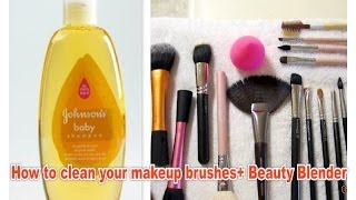 How to clean your makeup brushes + Beauty Blender Thumbnail