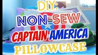 Captain America Non-sew Pillowcase Diy ✪ ✪