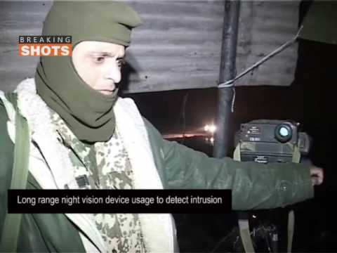 India Pakistan border patrolling with Dogs and Night Vision Devices