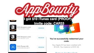 AppBounty - How to Get Free Gift Cards (PROOF). My invite code