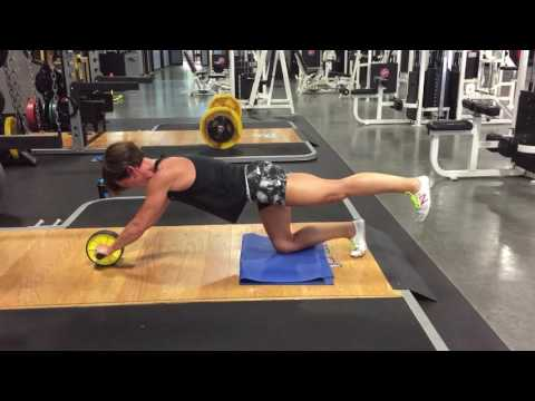 Quadruped Bird Dog Ab Wheel Rollout