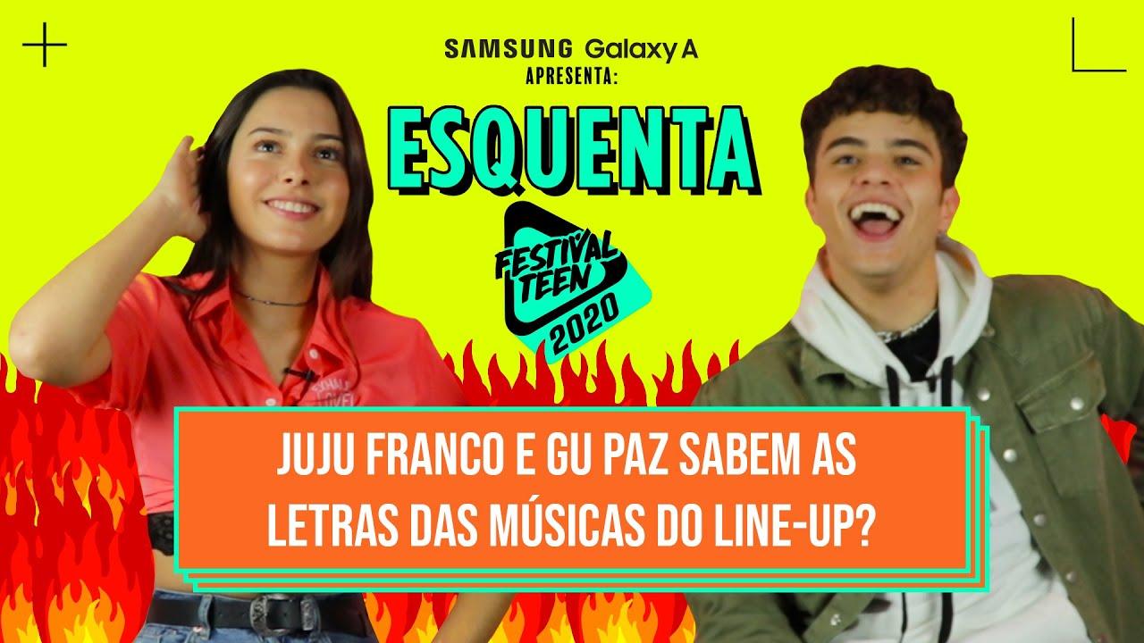 JUJU FRANCO e GU PAZ vão ter que provar que estão com as músicas do LINE-UP na ponta da língua