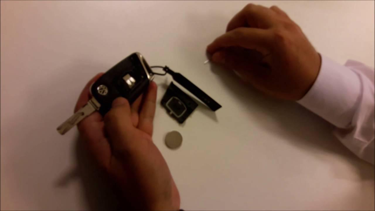 volkswagen araç kumanda anahtar pili nasıl değiştirilir - youtube