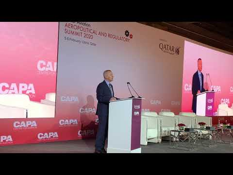 IAG CEO Willie Walsh delivers keynote address at CAPA Qatar Aviation 2020 | Qatar Airways