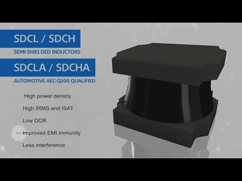 What are semi-shielded inductors?