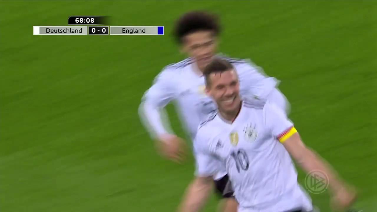 22032017 Deutschland England Podolski Tor Youtube