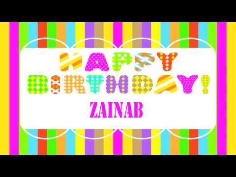 Zainab Birthday Wishes  - Happy Birthday ZAINAB