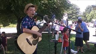 The Greensboro Curb Farmers Market - 8 year-old Finn Phoenix (6.29.19)