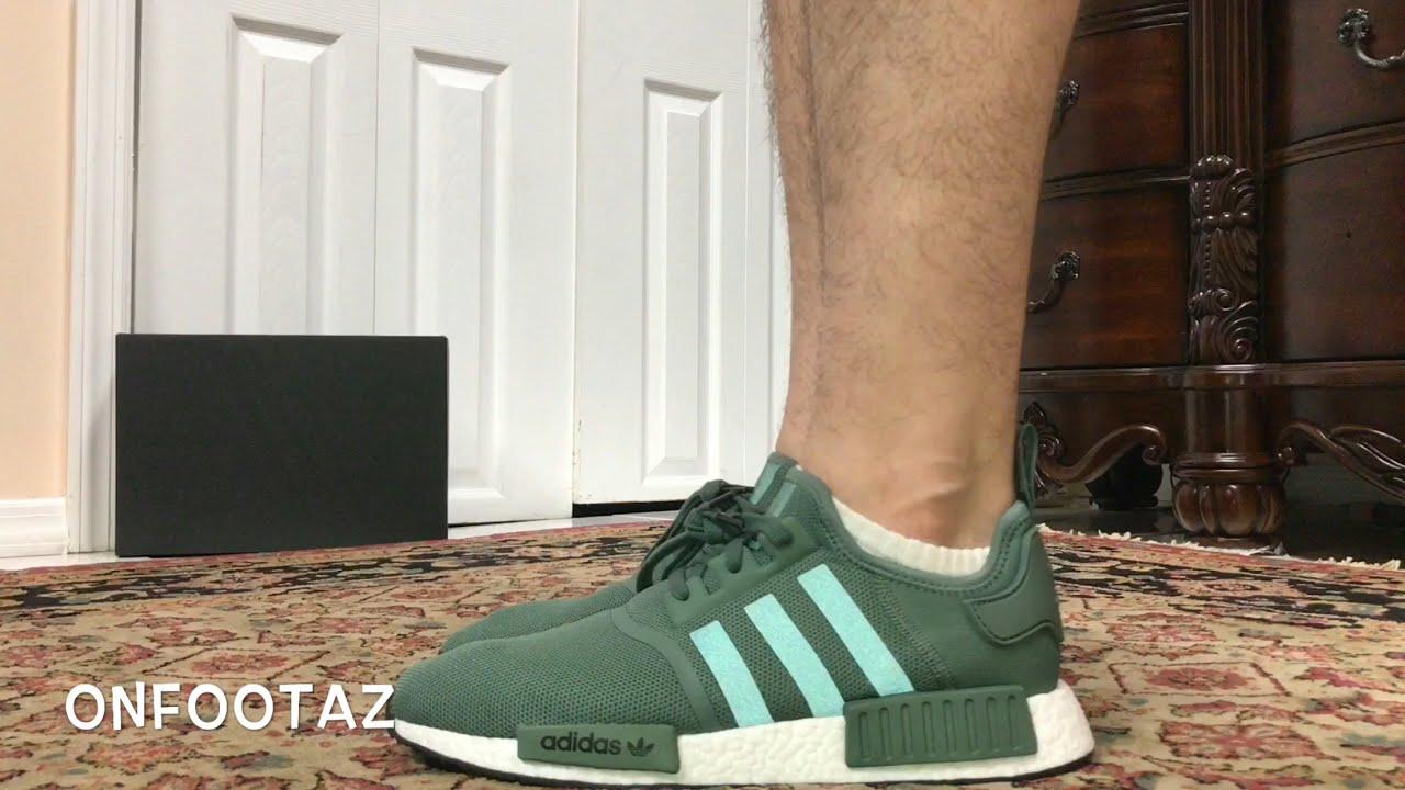 Adidas nmd r1 traccia verde a piedi su youtube