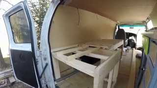 Living In A Van - Expandable Bed And Storage #vanlife