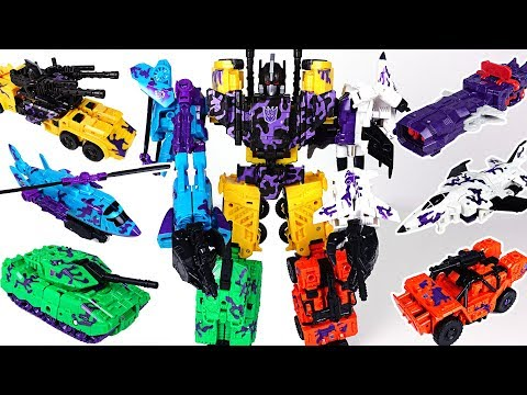 Transformers Generations Combiner Wars Bruticus 6 combine: tank, helicopter, car  - DuDuPopTOY