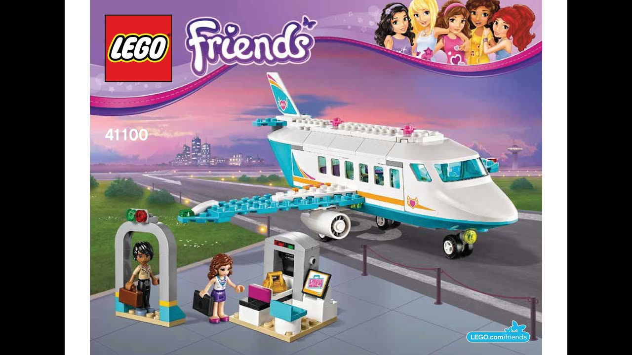 Lego 41100 Heartlake Private Jet Instructions Lego Friends 2015