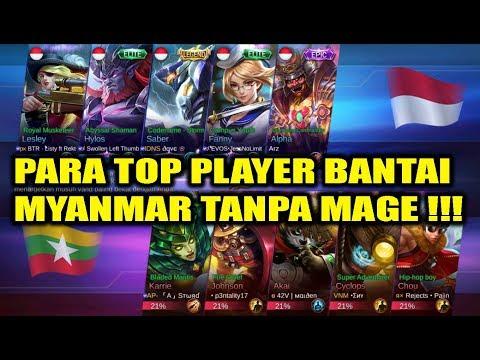 WOW !!! Para Top Player Bantai MYANMAR Tanpa Mage !!! INDONESIA VS MYANMAR Arena Contest