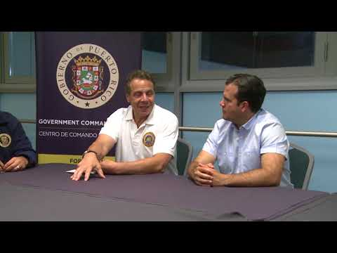Governor Andrew Cuomo in Puerto Rico